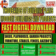 3000+ DIY WOOD PROJECT PLANS HOUSES SHEDS STABLES WOODEN BUILDINGS FAST DOWNLOAD