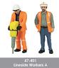 Scenecraft 47-401 Lineside Workers Figures Pack A (2PK) O Gauge