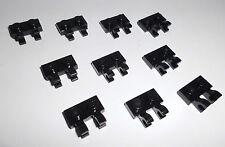 LEGO (60470b) 10 plaques 1x2 avec clips vertical, en noir de 7189 7733 7326