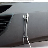 8Pcs Car Wire Cord Cable Holder Tie Clips Line Fixer Organizer Drop Adhesive JO