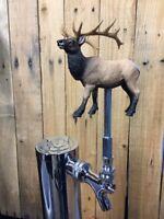 Elk TAP HANDLE Beer Keg Pull Knob Bull Hunting Kegerator Bulls Rack Rifle
