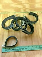 """QTY 25 UMPCO 1/"""" LOOP CLAMP VINYL COATED 7//8/"""" W 7//16/"""" MOUNTING HOLE 7529133-5"""
