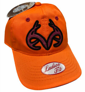 Real Tree Ladies Fit Hunters Orange & Pink Strapback Cap Hat - New With Tags