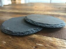 ❀ Set Of 2 Drink Coasters - Marble Slate Coasters - Round Circle Drink Coasters
