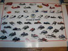 Vintage Polaris Snowmobile 50th Anniversary Poster TX TXL RXL Indy 650