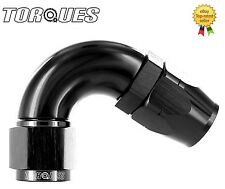 AN -12 (AN12 JIC -12) 120 Degree ULTRAFLOW Swivel Seal Hose Fitting In BLACK