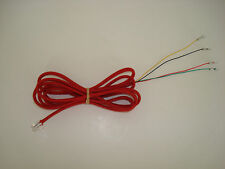 Antique vintage telephone modular cloth covered wall cord bell 7ft red color