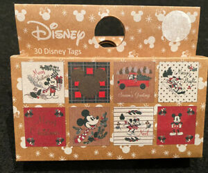 Disney Christmas Gifts Tags X 30 Wrapping Labels Tags Brand New In Box