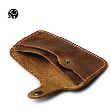 Mens Slim Mini Wallet Thin Genuine Leather Credit Card Holder
