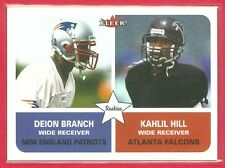 2002 FLEER (FB) Deion Branch PATRIOTS/Kahlil Hill FALCONS ROOKIE/RC CARD #281