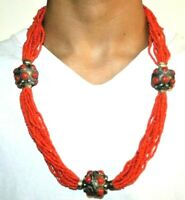 Moroccan Vintage Beaded Necklace African,berber/Handcrafted Jewelry