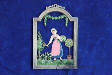 Fensterbild Reliefbild Schweizer Diessen Juni Blumenmädel