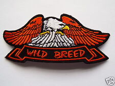 Wild Breed Eagle Embroidered Sew On Biker patch New Motorcycle Chopper