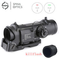 Tactical Rifle Scope 1X-4X Adjustable Dual Role Optic Sight Scope 1-4x With QD