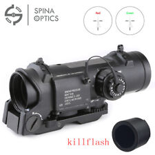 Tactical Rifle Scope 1X-4X Adjustable Dual Role Optic Sight Scope With QD mount