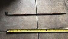 """Handmade 21"""" Bamboo Pipe Metal Tip & Bowl Folk Type Pipe"""