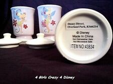 DISNEY TINKERBELL GLASS BATHROOM CANISTERS  Retired brand new from 2005