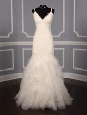 BRAND NEW Vera Wang LUXE Esme Lace Wedding Dress D White Straps Mermaid 10 $7900
