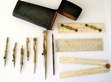 Shagreen cased drawing instruments by W & S Jones, late 18th century