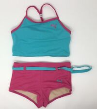 Puma Blue And Pink Bathing Suit Girls Size 6X