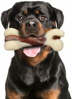Tikaton Indestructible Dog Chew Toys for Aggressive Chewers Real Beef Flavor