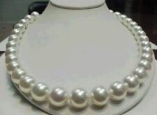 """HOT HUGE 18""""L 12-13mm AAA++ SOUTH SEA WHITE PEARL NECKLACE 14K GOLD CLASP"""