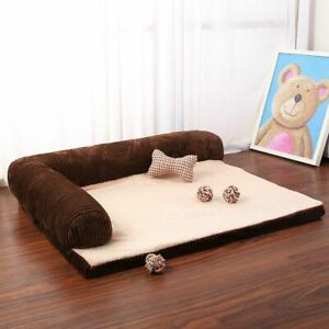 Dog Bed Soft Warm Pet Sofa Cat Beds Big Dog Cushion Mat Puppy L Shaped Couch