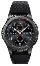 Samsung - Gear S3 Frontier Smartwatch 46mm Stainless Steel Verizon - Dark Gray