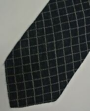"""Shiny Blue BRIAN & BARRY Cashmere Silk Tie.  3.8"""" Wide 61"""" Long. Made in ITALY"""