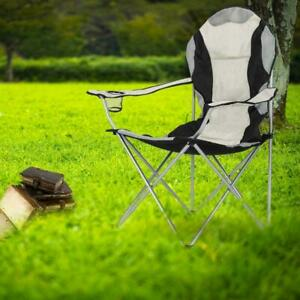 Outdoor Folding Camping Chair Heavy Duty Padded Steel Festival Directors Fishing