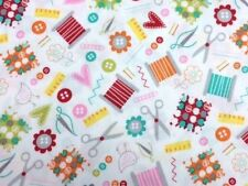 Timeless Treasures Bright Sewing Essentials 100% Cotton by the half metre