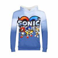 The Hedgehog Sonic Kids Boys Girls Long Sweatshirt Tops Hooded Jumpers Hoodies