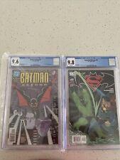 Batman Beyond 1 CGC 9.6 and Superman/Batman 23 9.8