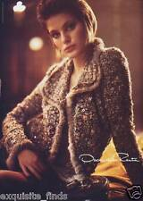 ICONIC and HIGHLY COLLECTIBLE OSCAR DE LA RENTA EMBELLISHED BOUCLE SKIRT SUIT