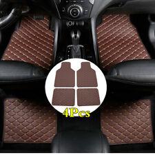 Coffee Colour PU Leather Front Rear Car Carpet Floor Mats Waterproof Non-slip