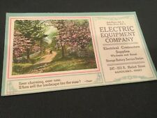 Vintage Advertising Cards-Electric Equipment Company
