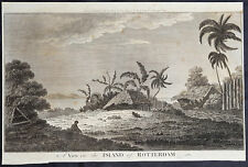 1784 Anderson Antique Print View of The Tongan Island of Nomuka - Capt Cook 1774