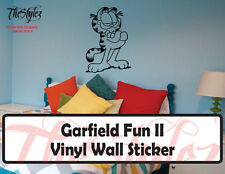 Garfield Fun II Custom Wall Vinyl Sticker