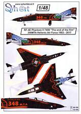 "Syhart Decals 1/48 RF-4E PHANTOM II ""End of the Film"" Greek Air Force 1953-2017"