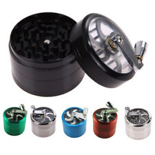 US Tobacco Herb Spice Grinder 4 Layers Herbal Alloy Smoke Metal Chromium Crusher