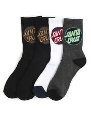 Santa Cruz Socks 4 Pack Pop Crew Size 2-8 Primary Youth Skateboard Sox