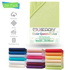 2er Pack Kinder Baby Jersey Spannbettlaken Betttuch 100% Baumwolle 70x140