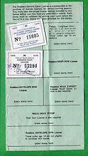 North Dakota 1970 Resident General Game License + #7 -529