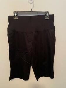 NWT Duo Maternity Black Bermuda Shorts Sz. Small