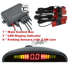 LED Display Car 4 Parking Sensor Reverse Backup Radar Alarm System Kit Black