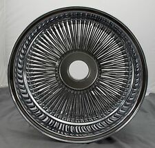 "Dayton 18"" x 8"" Knock-Off Chrome 144 Spoke Wire Spinner Knockoff Wheel Rim - NEW"