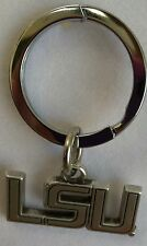LSU Tigers - Geaux Tigers NCAA College Football Silver Charm Key Chain Free Ship