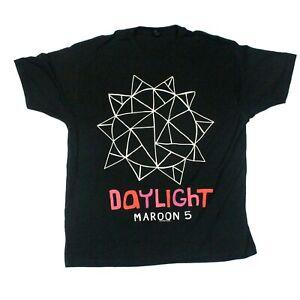 Maroon 5 Daylight Sun Logo 2012 Tee - Tultex T-Shirt - Black - XL