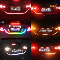 4 Color LED Strip Car Rear Trunk Tailgate Brake Turn Signal Light Flow Type Lamp