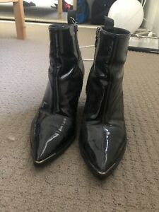 Acne Studios Patent Leather Boots Size 37